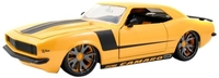 1968 Chevy Camaro, Yellow w/Black Stripes - Jada Toys LoPro 96625 - 1/18 scale Diecast Model Toy Car