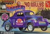 1940's Willys Coupe The three Stooges Curley Gasser  Plastbyggsats