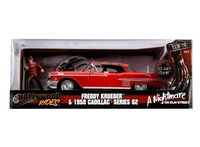1958 Cadillac series 62 with Diecast Freddy Krueger figure 1:24