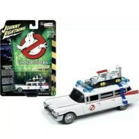 Ghostbusters 1959 Cadillac Eldorado ECTO-1 Ambulance 1:64 White Johnny Lightning JLSS006