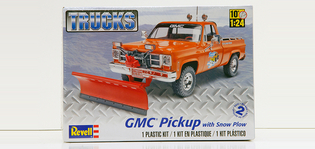 GMC Pick Up with Snow Plow plast byggsats