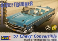 1957 Chevy Convertible Byggsats Revelle 1/25
