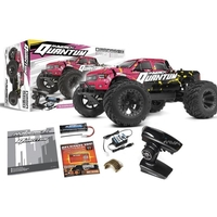 Maverick MV150101 1/10 Quantum MT 4WD Brushed Electric Monster Truck (Pink/Yellow)