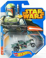 HOT WHEELS STAR WARS CHARACTERS BOBA FETT 10 NEW CGW42