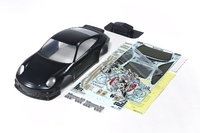 Tamiya 1/10 PORSCHE 911 GT3 BODY PARTS SET, BLACK PAINTED 47365